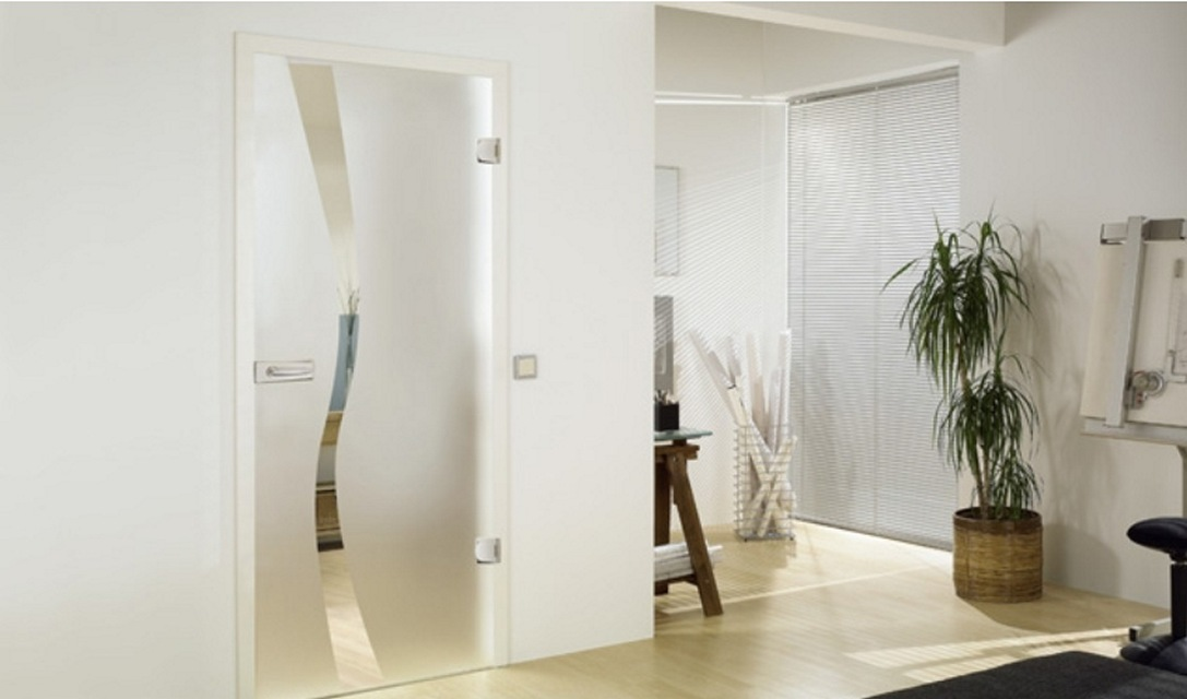 Wave type 8 glass door